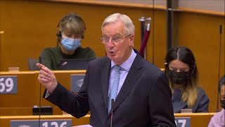 video: Brexit: Michel Barnier says UK and EU have 'huge common responsibility' to avoid no deal