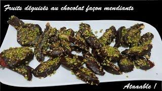 Fruits déguisés au chocolat façon mendiant