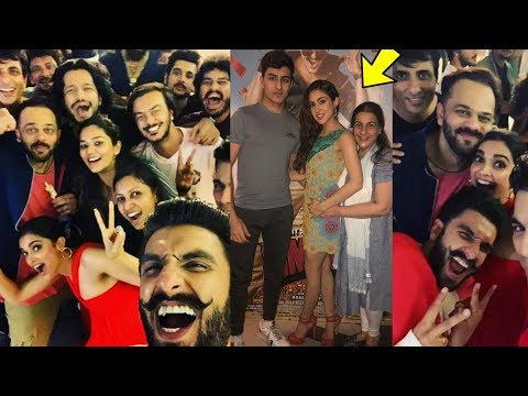 Deepika Padukone and Sara's Mom Amrita Singh attend Ranveer and Sara Ali's Simba Special screening |