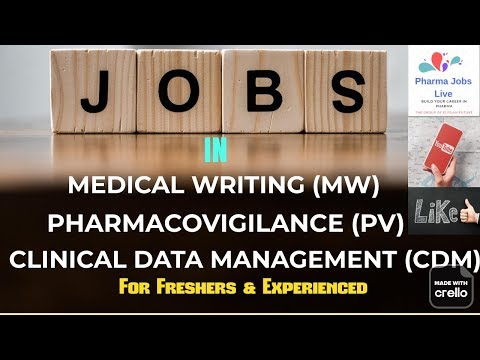 jobs-in-medical-writing-||-pharmacovigilance-||-cdm-||-fresher-||-experienced