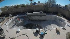 Time lapse video of pool renovation March 2016.