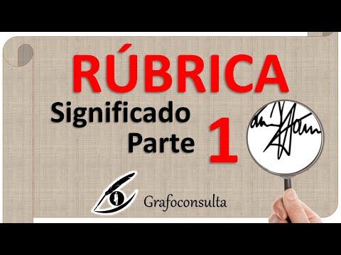Grafoconsulta - RÚBRICA