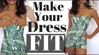 DIY DRESS HACK  |  No-Sew Adjustment to Fit a Large Bust  |  KWSHOPS