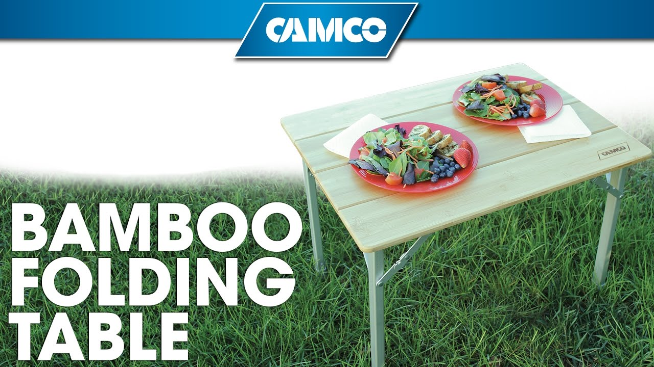 Camco s Bamboo Folding Table