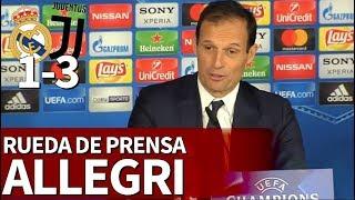 Real Madrid 1-3 Juventus | Rueda de prensa de Allegri | Diario AS