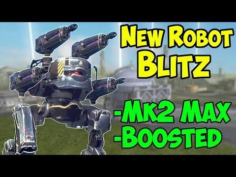 New 4.3 Robot BLITZ Mk2 Maxed + Boosters - War Robots Gameplay WR