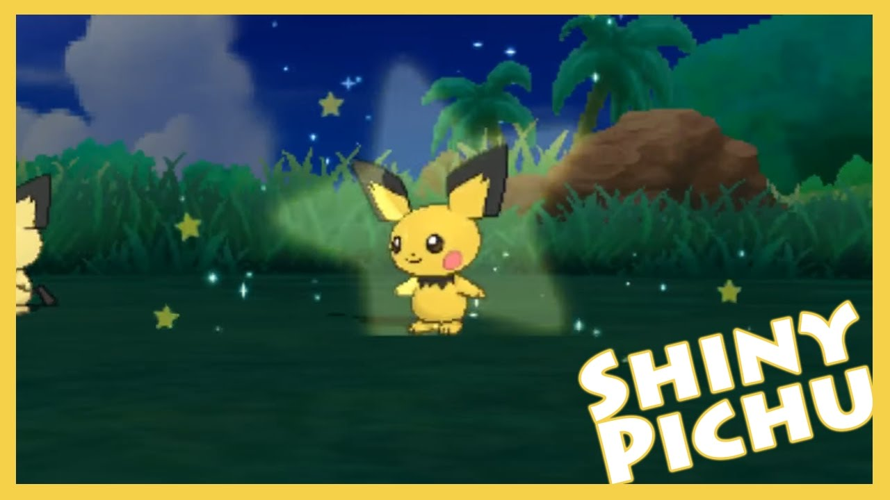 Sos shiny hunting pichu pokemon moon twitch highlight for Fishing rod pokemon moon