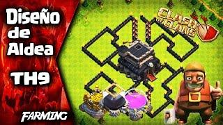 !!EL MEJOR DISEÑO DE ALDEA DE TH9!!   FARMING   Híbrida   Se Invencible #13   Clash of Clans