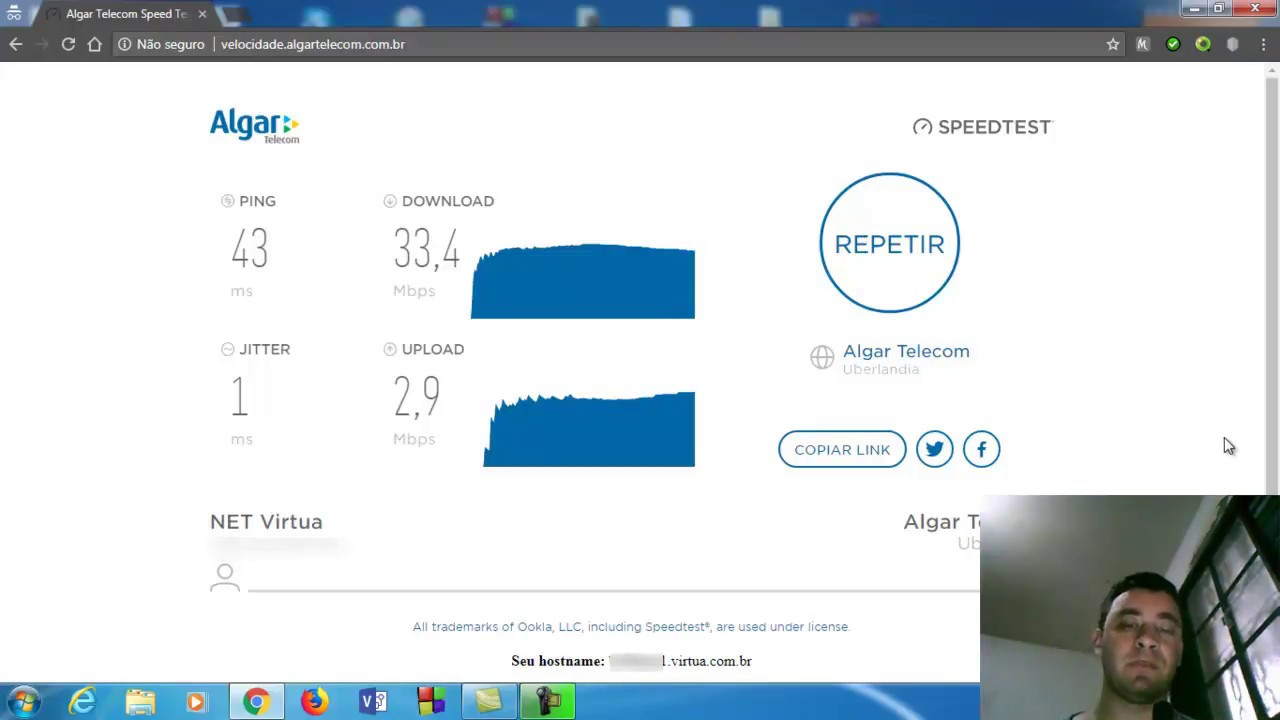 algar speed test