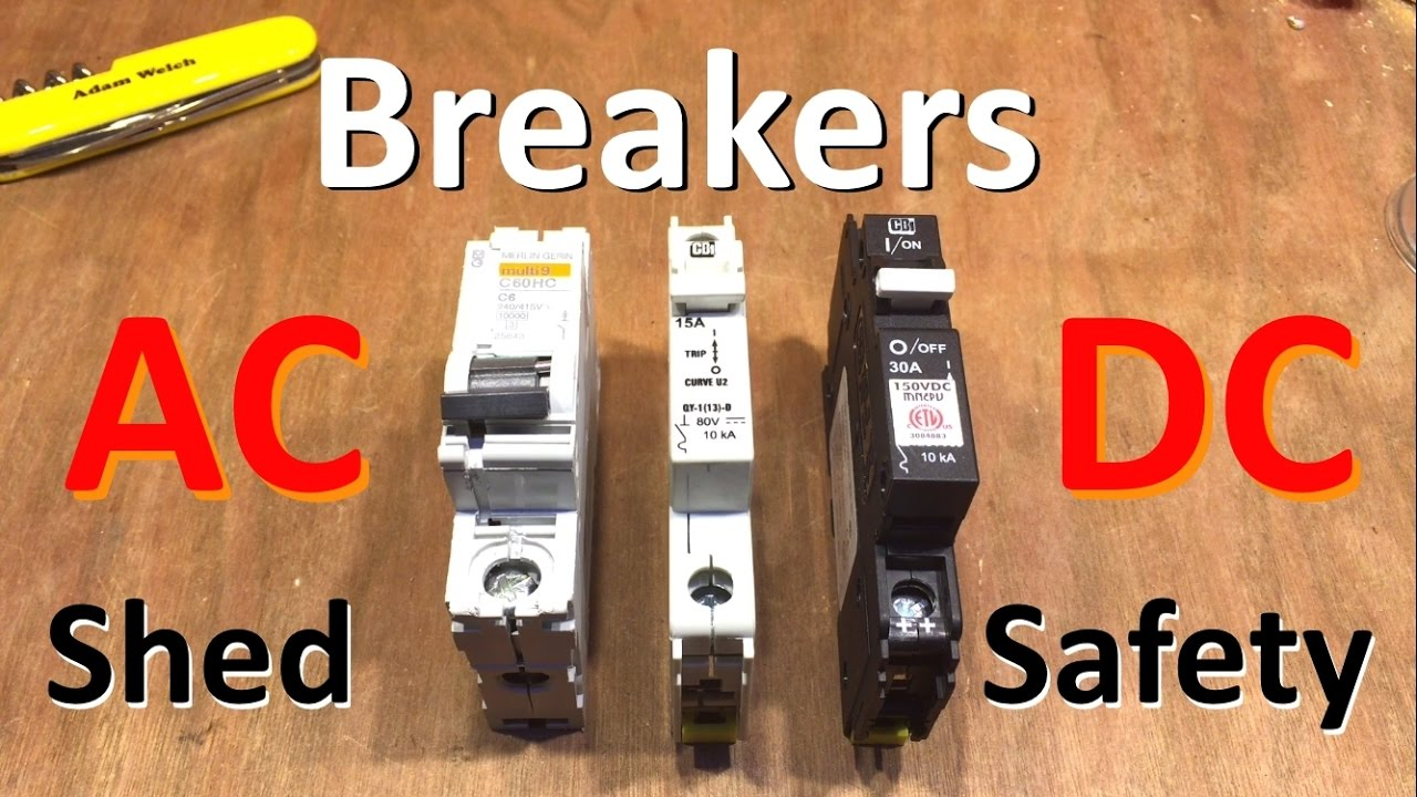 hight resolution of breakers ac dc ac dc solar safety part 2 12v solar shed youtube solar dc disconnect wiring diagram
