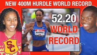 REACTING TO DALILAH MUHAMMAD BREAKING 16 YEAR OLD 400M HURDLE WORLD RECORD WITH A USC HURDLER