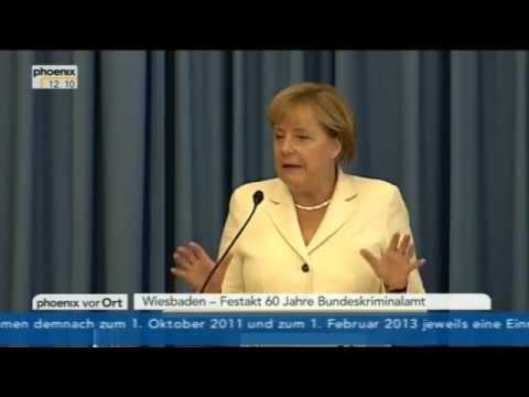 60 Jahre BKA - Angela Merkel