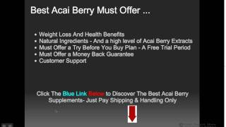 Best Acai Berry Weight Loss Supplements - Free Trial