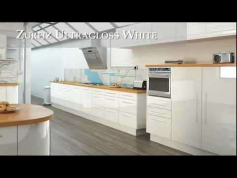 Zurfiz Ultragloss White - Fitted Kitchens and Replacement Kitchen Doors