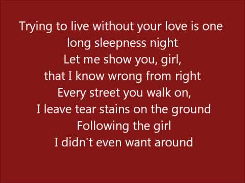 Glee - I want you back - lyrics