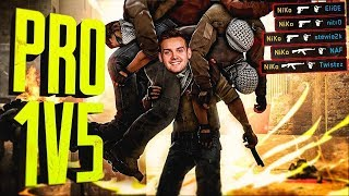 WHEN CS:GO PROS DO IT ALL BY THEM SELVES! (INSANE 1 VS 5 CLUTCHES)