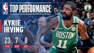 Kyrie Irving Leads The C's To Victory Over T'Wolves
