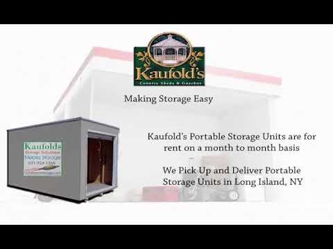 Rent Portable Storage Units In Long Island Ny Youtube