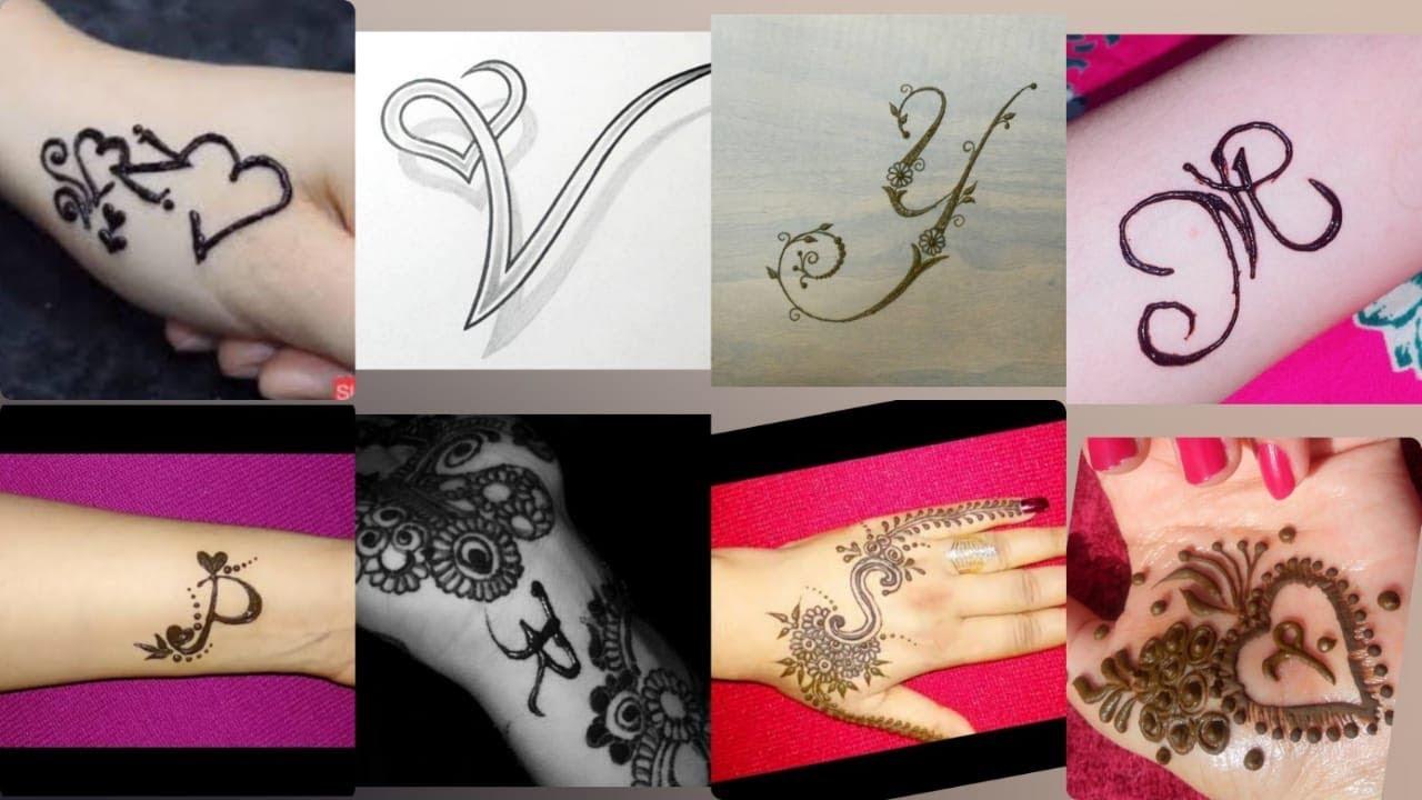Alphabetical Mehndi Designs | Latest Mehndi Designs Ideas #1