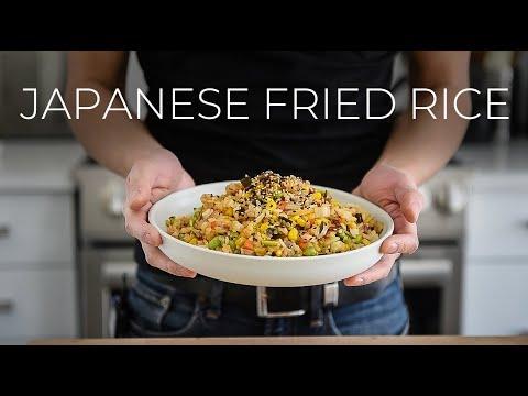 JAPANESE FRIED RICE RECIPE | YAKIMESHI | EASY VEGAN RECIPE WITH KOMBU SEAWEED (ビーガンチャーハンレシピ)