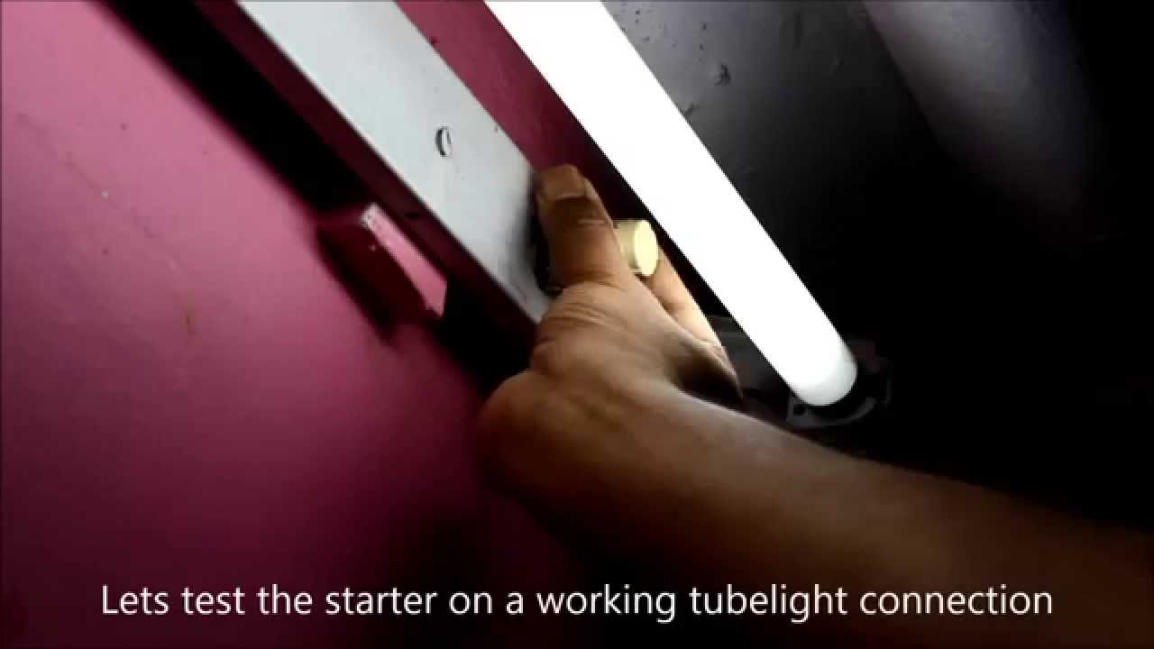 Diy Repair A Tube Light Youtube Fluorescent To Led Wiring Diagram