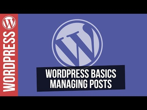 Wordpress for Beginners - Working with Posts - 동영상