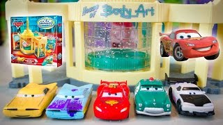 Cars Color Changers 2015 Series Lightning McQueen Disney Cars Color Change Ramone's Playset