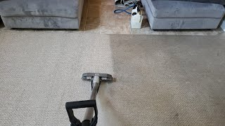 SATISFYING CARPET CLEANING RESULTS | Cleaning heavily soiled berber carpets with great results
