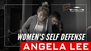Angela Lee Women's Self Defense Tip #3: Rear Bear Hug Escape | Evolve University