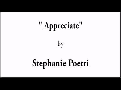 Stephanie Poetri - Appreciate English Version (Lirik Lagu)