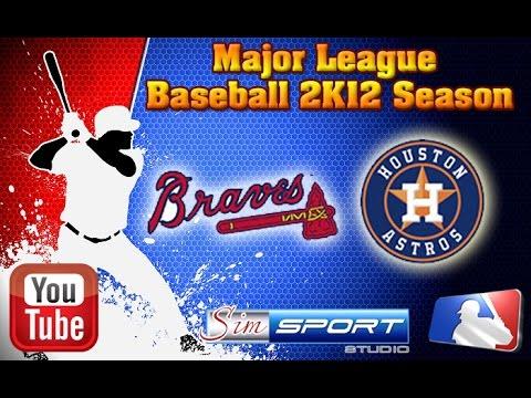 Atlanta Braves-Houston Astros. MLB2K12