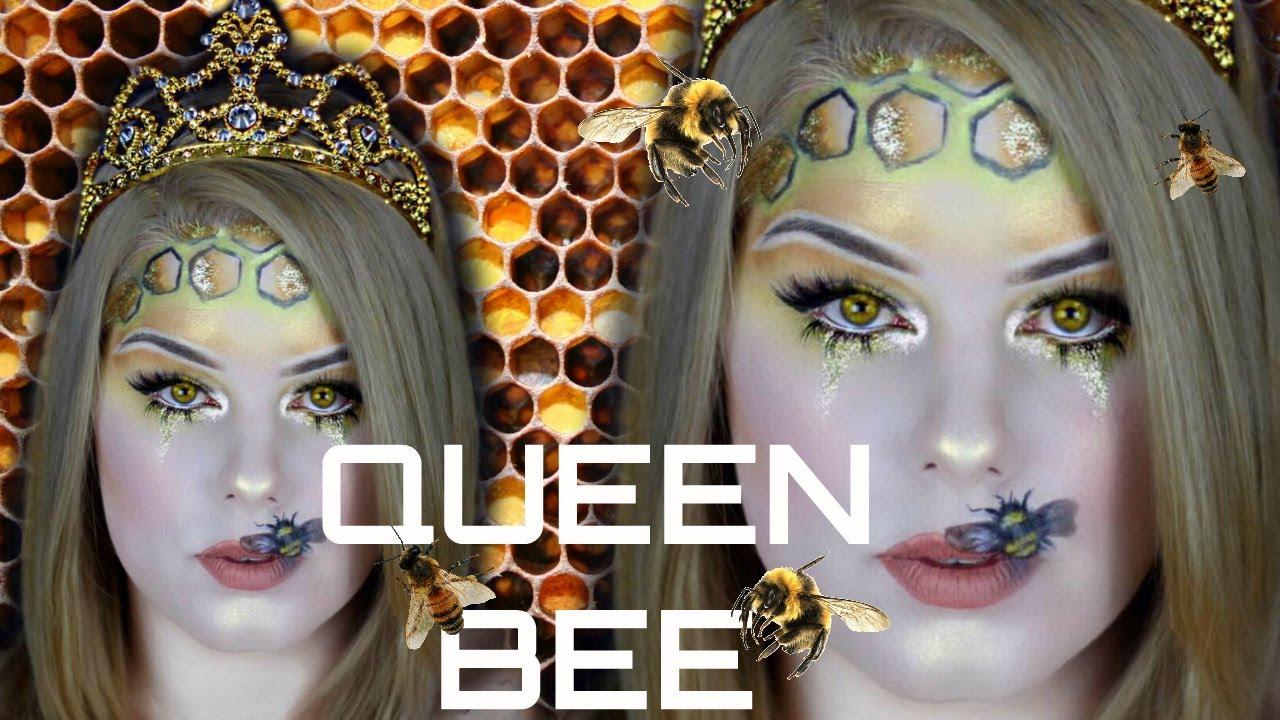queen bee tutorial halloweencostume makeup