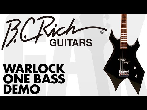 BC Rich - Warlock One Bass Demo at GAK