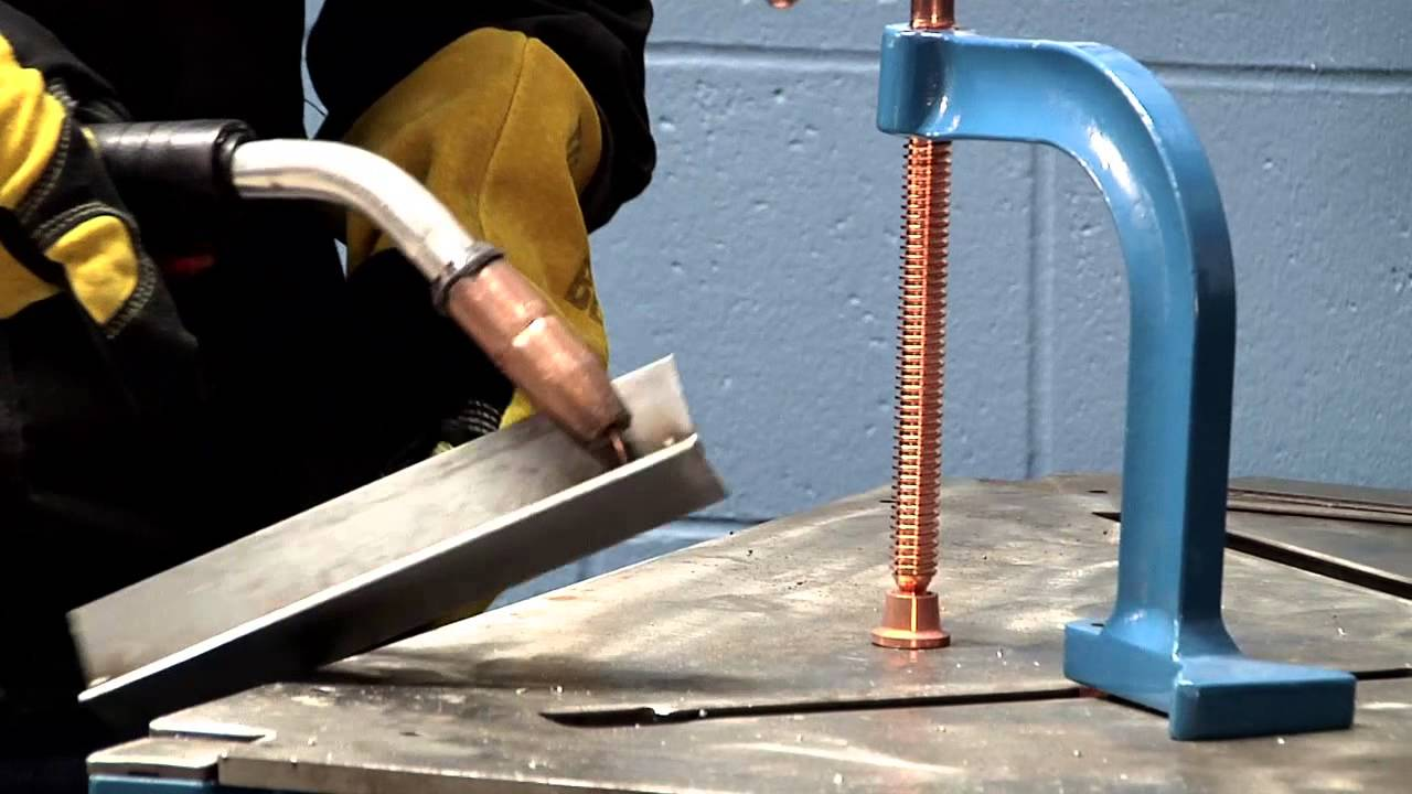 Millermatic® 252 MIG welder burnback - YouTube