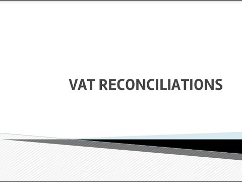 How To - Perform a VAT Reconciliation (South Africa)