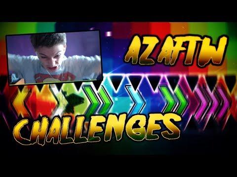 PURPLE'S CHALLENGES FINALLY BEATEN ~ Geometry Dash AzaFTW Challenges