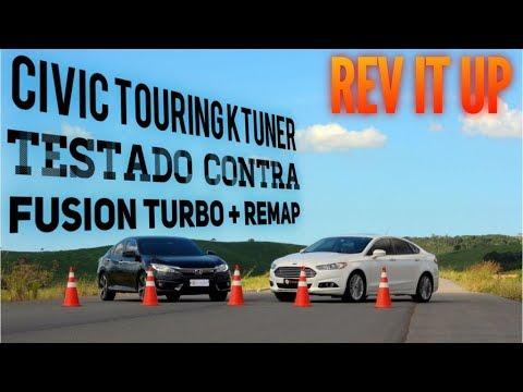 Civic Touring com Reflash KTuner Comparando desempenho com Ford Fusion 2.0 Turbo também com Reflash