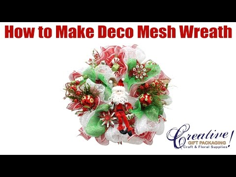 Part 1 Deco Mesh Tutorial For Beginners - Beginner How to Make a Deco Mesh Wreath
