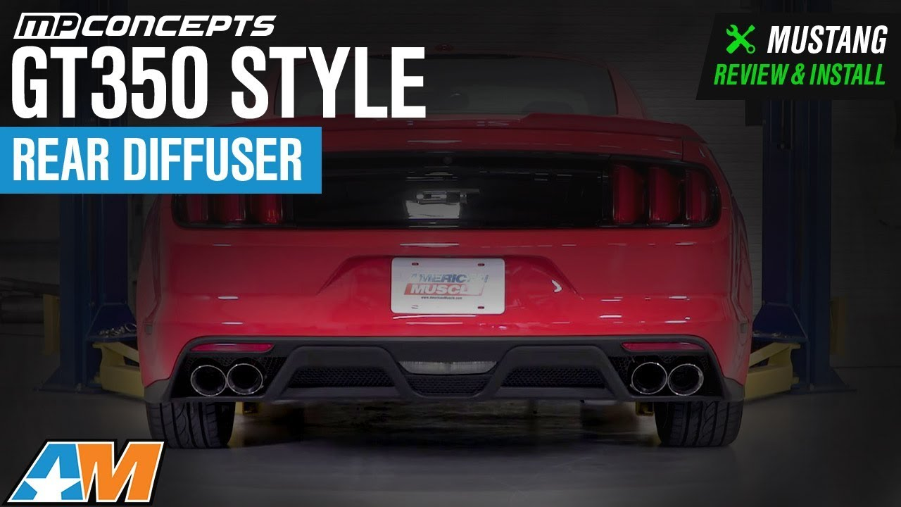 2015 2017 Mustang Gt Ecoboost Premium Mp Concepts Gt350 Style Rear Ford Diffuser Review Install