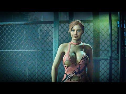 Обзор мода на большую грудь и сексуальный наряд для Клэр Resident Evil 2 Remake | RE2: Remake mods