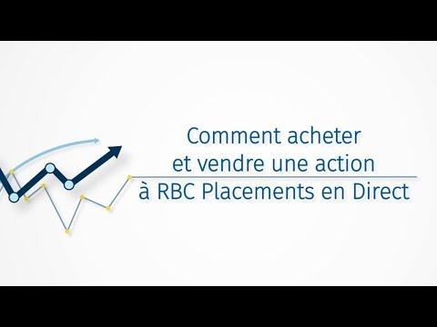 Comment Acheter Et Vendre Une Action à RBC Placements En Direct