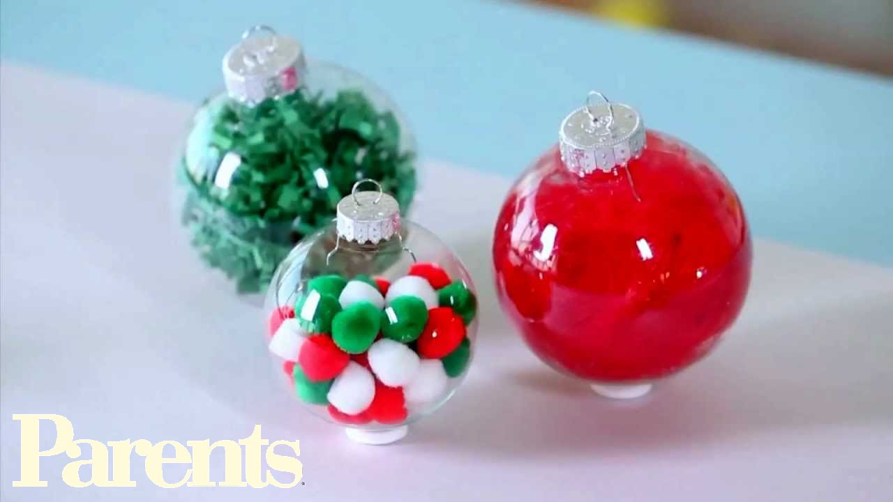 Easy homemade christmas ornament ideas parents youtube for Homemade christmas ornaments to make
