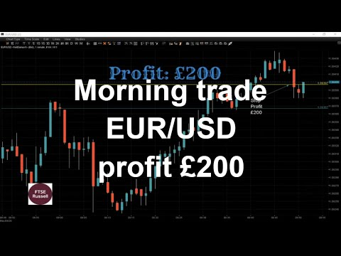 £200 On EUR/USD Copy Of Live From The Trading Floor, London Forex And Bitcoin Trading Session.