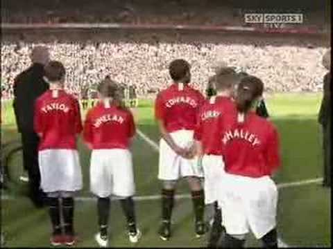 manchester united vs city minutes silence and introduction
