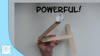Popsicle Stick Catapult. (instructions) (full Hd)