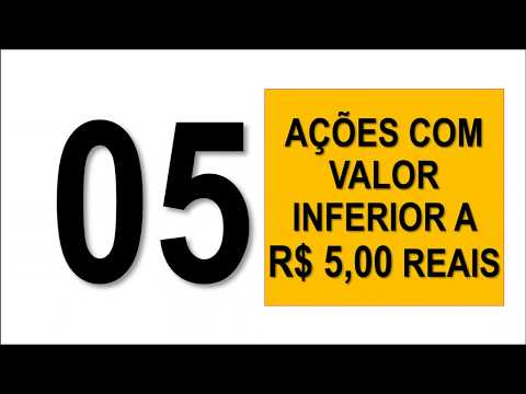 TOP 5 Ações Que Custam Menos De R$ 5,00