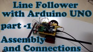 line follower with arduino part1 assembly connection