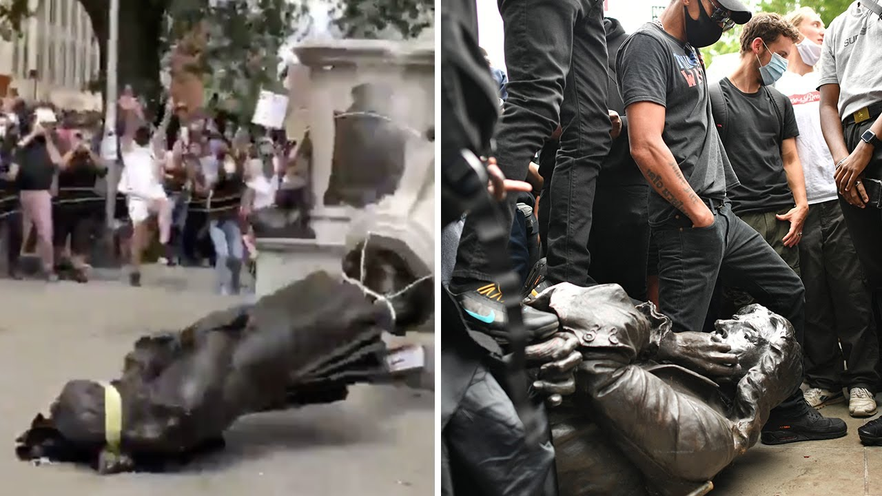 A Video Of Protestors Removing A Slave Trader's Statue Has Gone ...