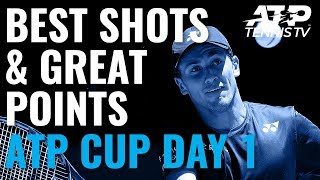 Best Shots & Great Points | ATP Cup 2020 Day 1