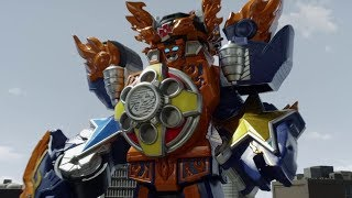 Enter Ninja Blaze Megazord